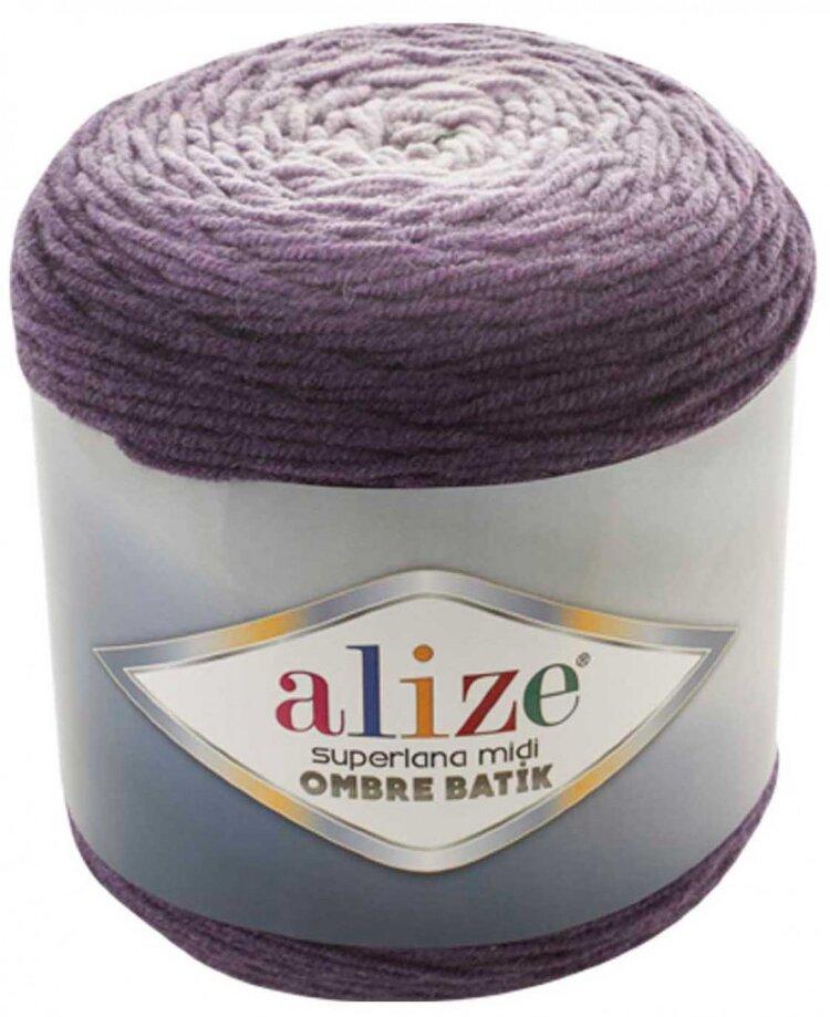 Пряжа ALIZE Superlana Midi Ombre Batik / 7270 фиолетовый